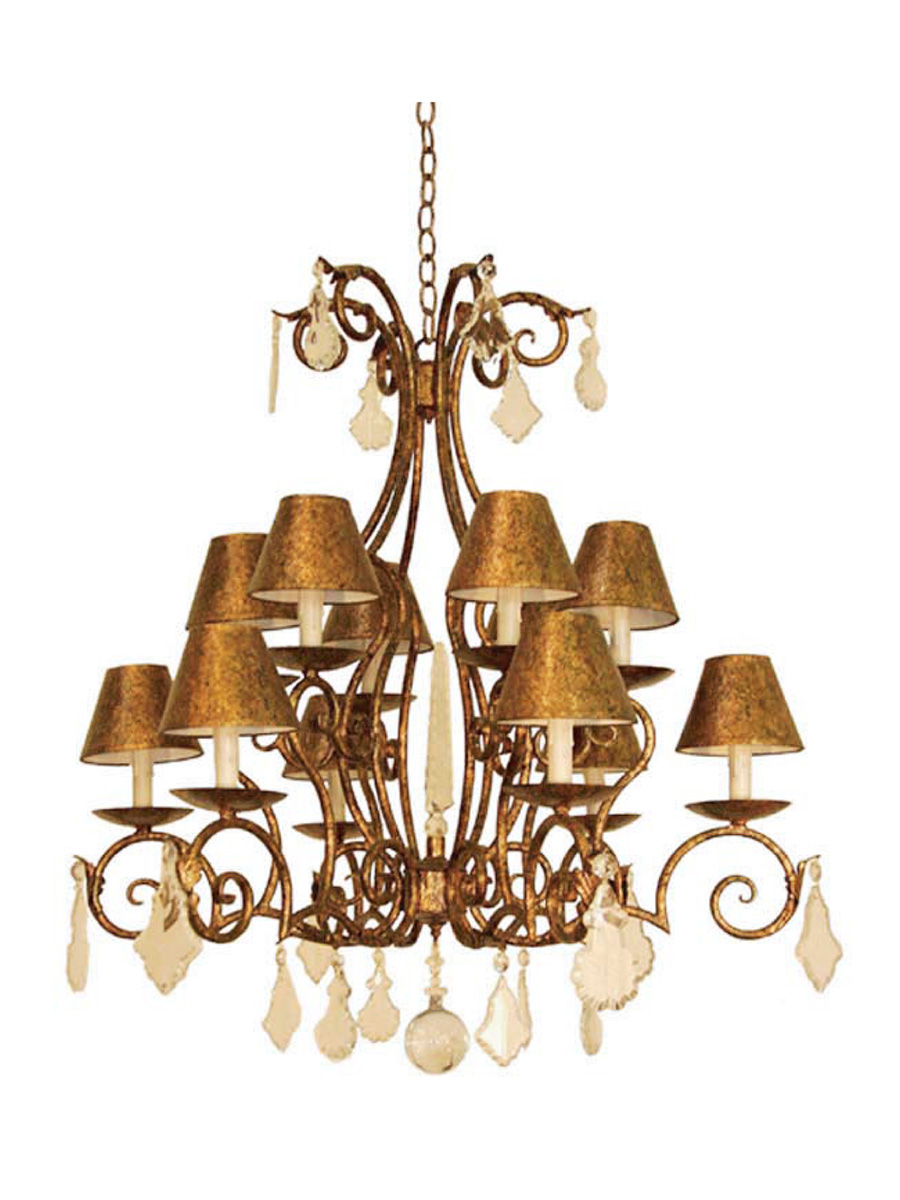 Casina 10 Arm Chandelier at Lusive.com