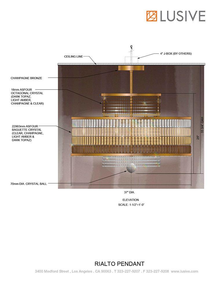 Rialto Pendant at Lusive.com