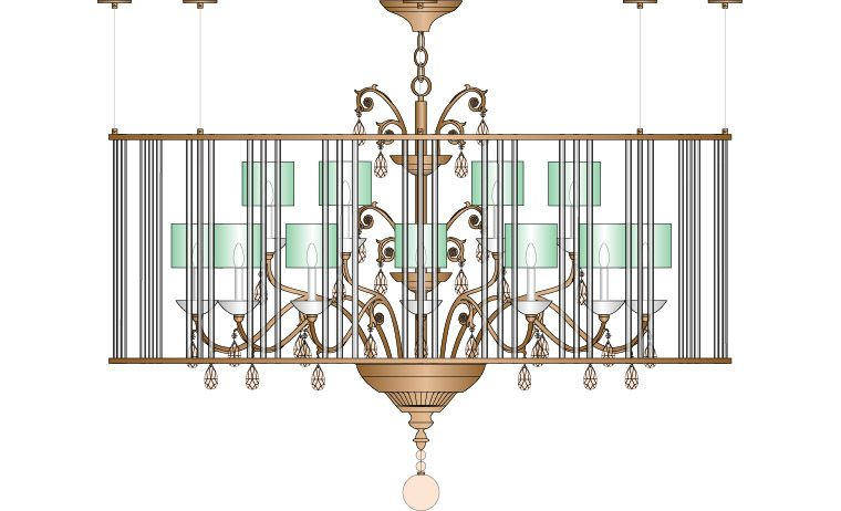 Barrymore Chandelier at Lusive.com