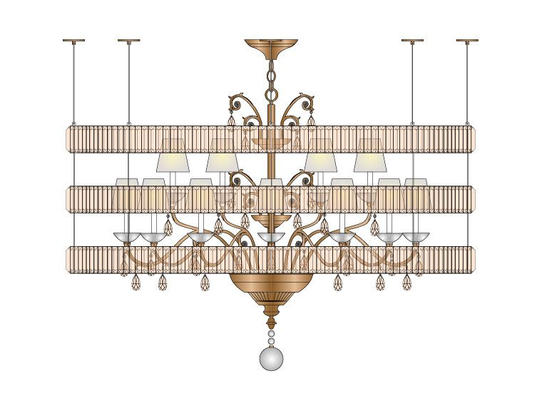 Marlene Chandelier at Lusive.com