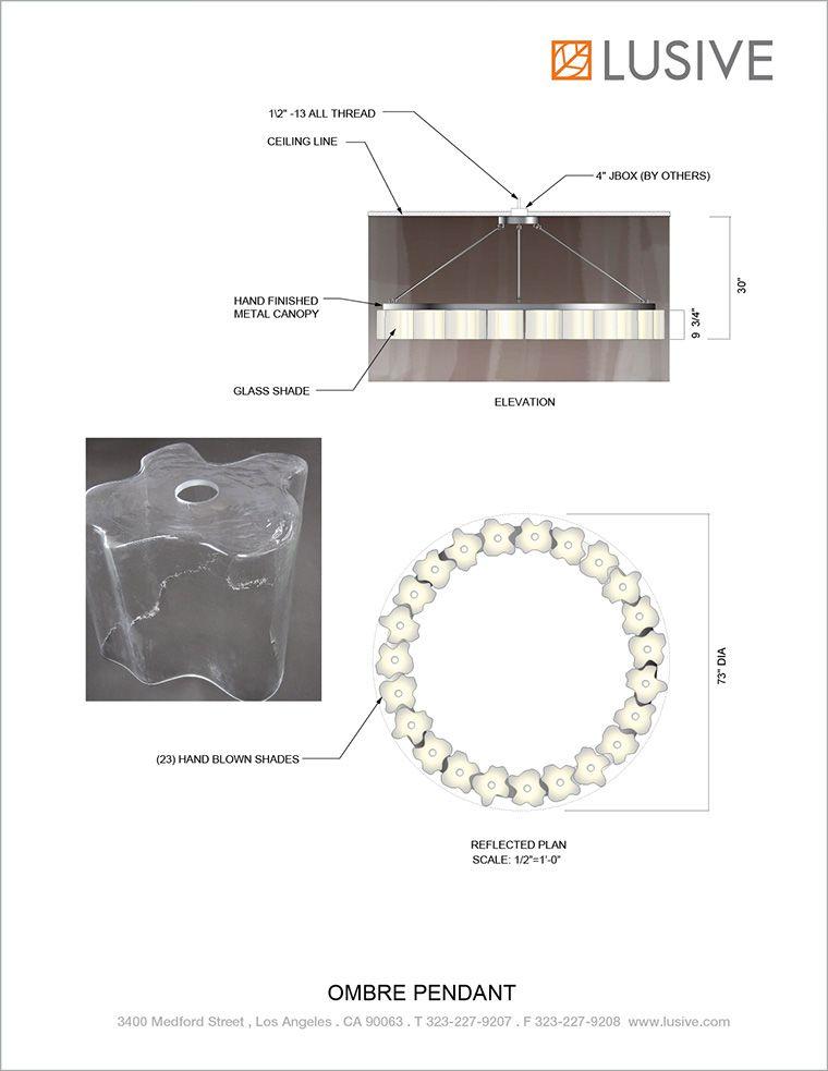Ombre Pendant at Lusive.com