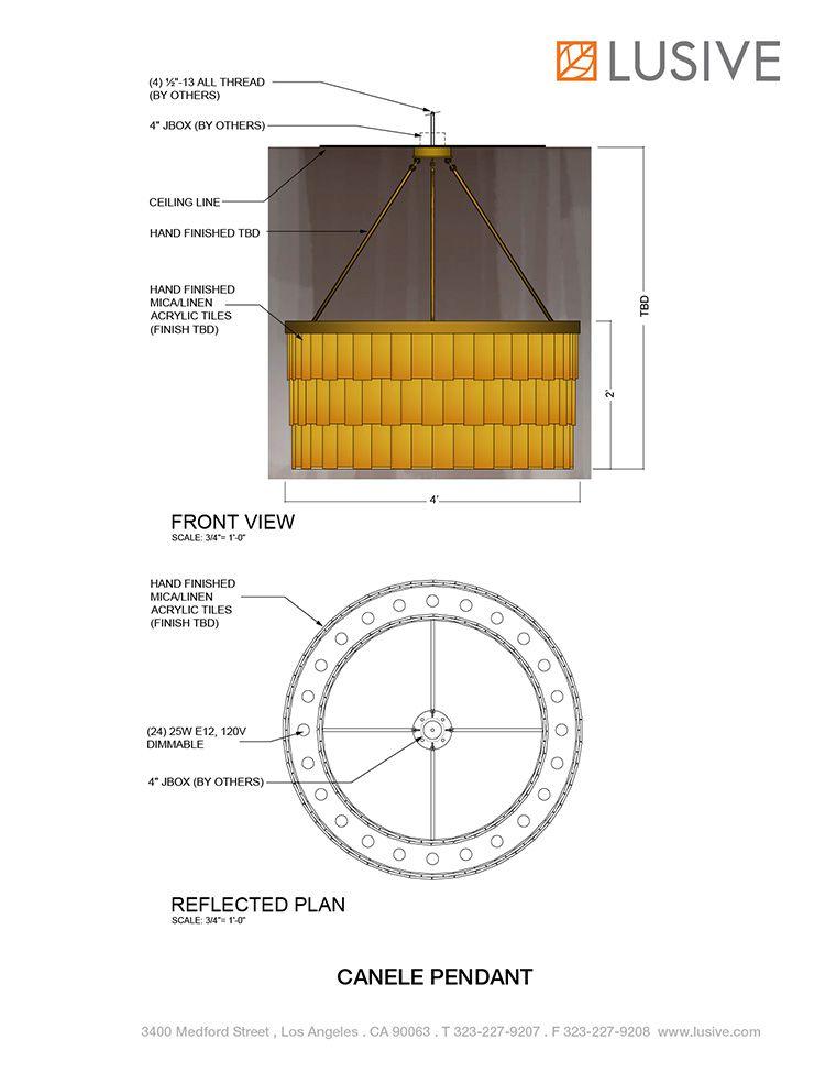 Canele Pendant at Lusive.com